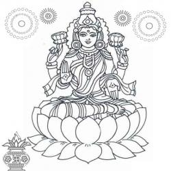 Goddess clipart black and white