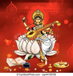 Goddess clipart indian festival
