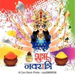 Goddess clipart navratri celebration