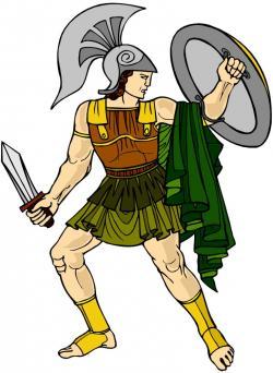 Achilles clipart simple