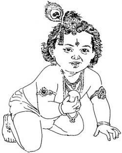 Gods clipart bal krishna