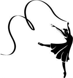 Ballet clipart ribbon