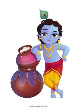 Krishna clipart cartoon