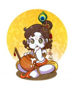 Krishna clipart little krishna