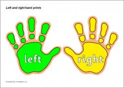 Handprint clipart left right