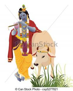 Krishna clipart traditional