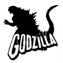 Godzilla clipart black and white