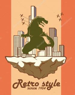 Godzilla clipart classic