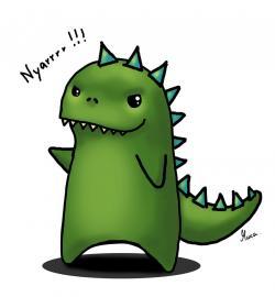 Godzilla clipart cute