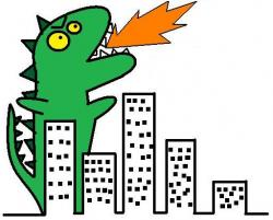 Godzilla clipart cute cartoon