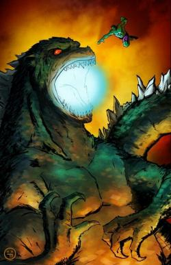 Godzilla clipart hulk