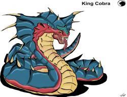 Godzilla clipart king cobra