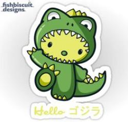 Godzilla clipart kitty
