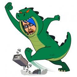 Godzilla clipart suit