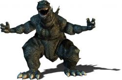 Godzilla clipart vector