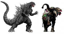 Godzilla clipart zombie