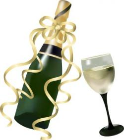 Champagne clipart champagne bottle
