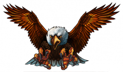 White-tailed Eagle clipart biker