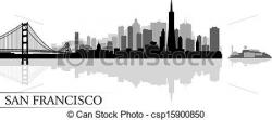 Cityscape clipart line drawing