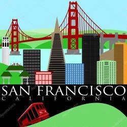 Golden Gate clipart trolley car