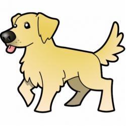 Drawn golden retriever cute cartoon