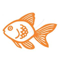 Drawn goldfish clip art