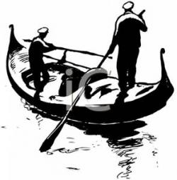 Canal clipart gondolier