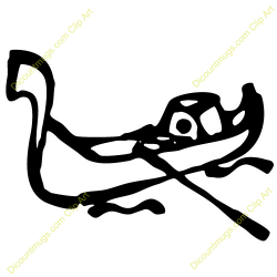 Gondola clipart black and white