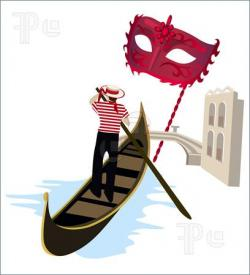 Canal clipart italian gondola