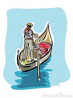 Gondola clipart italy