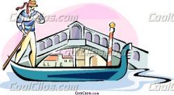 Gondola clipart rialto bridge