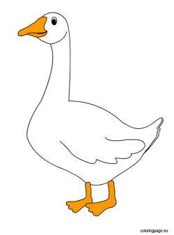 Cute clipart goose