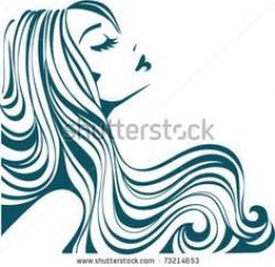 Gorgeus clipart female hair