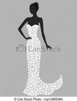 Gorgeus clipart gown