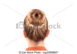 Gorgeus clipart hair bun