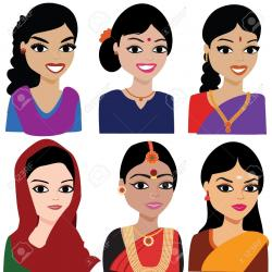 Saree clipart hindu woman
