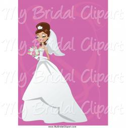 Bride clipart brunette