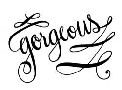 Gorgeus clipart the word