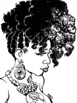 Braid clipart black woman