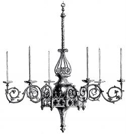 Chandelier clipart graphic
