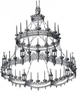 Chandelier clipart gothic