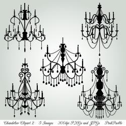 Chandelier clipart vintage chandelier