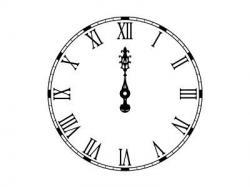 Clock clipart gothic
