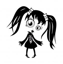 Emo clipart black and white