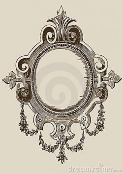Drawn mirror antique mirror