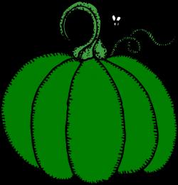 Gourd clipart green pumpkin