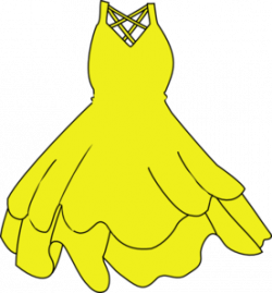 Dress clipart yellow dress