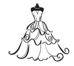 Wedding Dress clipart whimsical