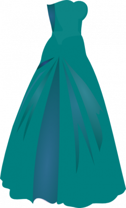 Gown clipart green dress