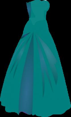 Gown clipart green dress